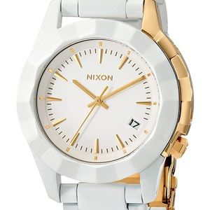 Nixon Watch Monarch White and Gold